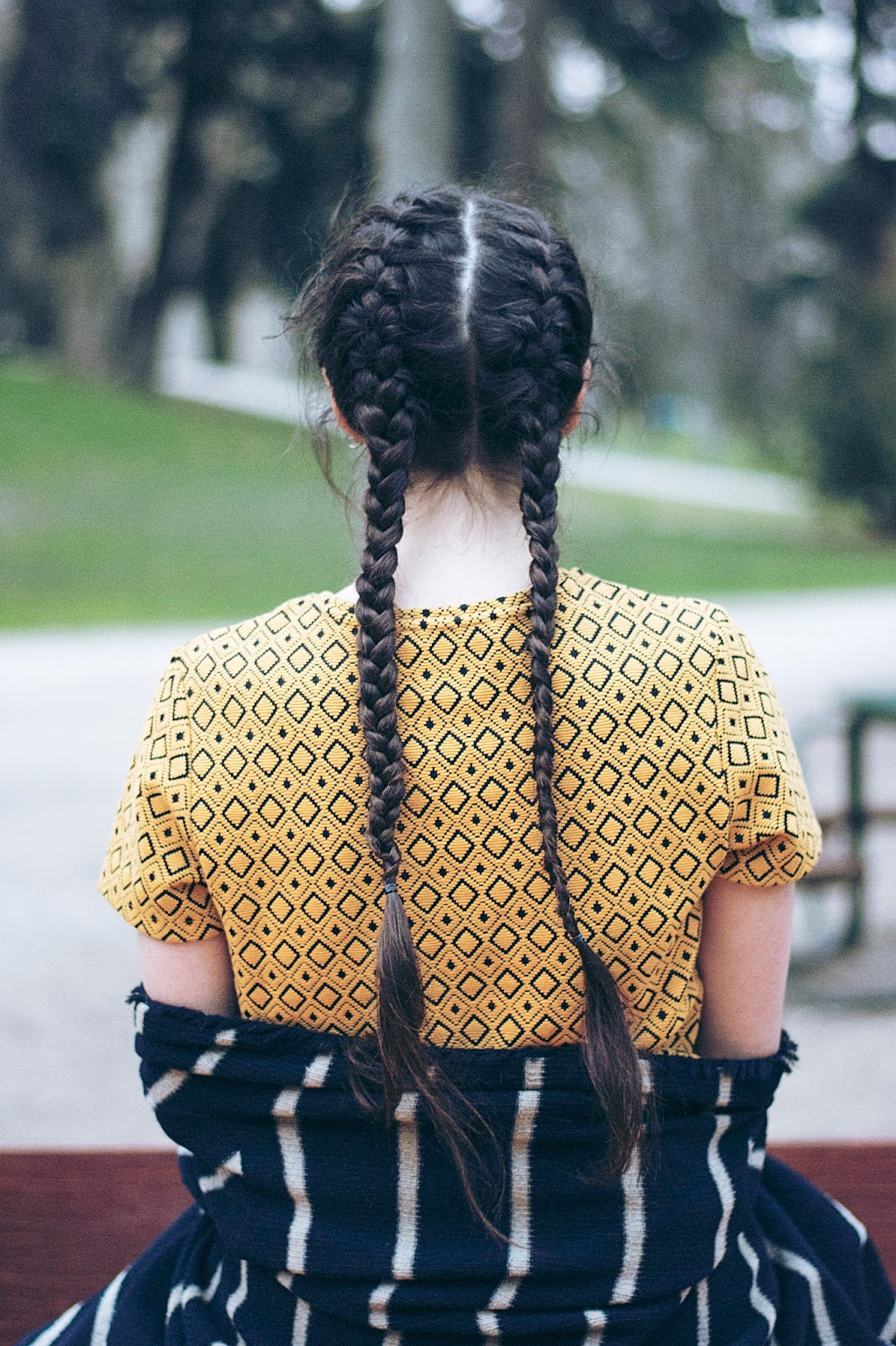 peinado trenzas finas