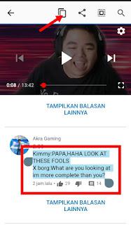 Cara Menyalin Tulisan Berupa Komentar atau Deskripsi di Youtube