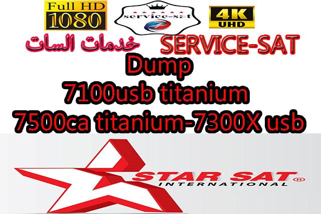 Dump 7100usb titanium-7500ca titanium-7300X usb-7100usb