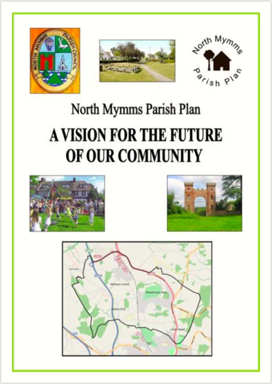 Image: The front cover of the North Mymms Parish Plan