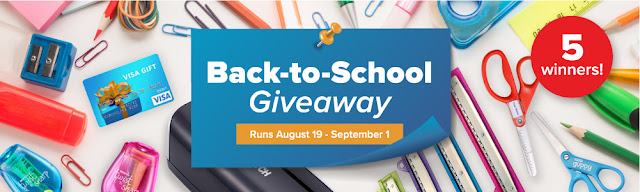 Bostitch wants five teachers to start off the school year right so they're offering you a chance to enter to win a back to school prize package and a $25 gift card!