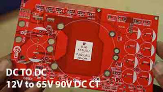 Converter DC to DC 12VDC to 65-90VDC CT for Audio Amplifier