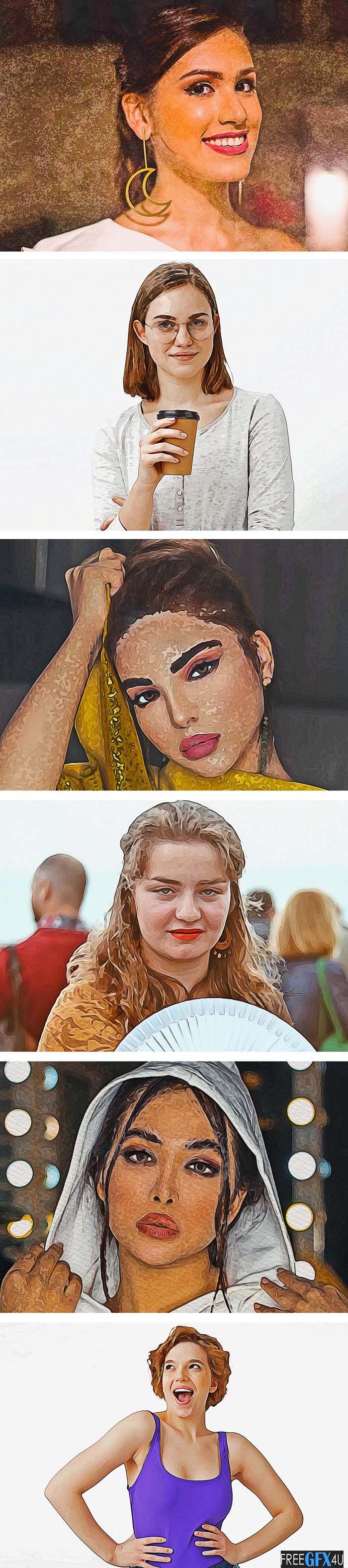 Pro Artistic Oil Photoshop Action