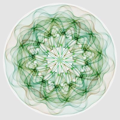 A beautiful shape like a glass dish.