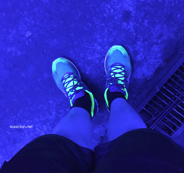 I'm a FINISHER! Love how my shoes glow