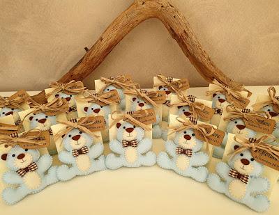 portachiavi orsetto pannolenci battesimo bimbo