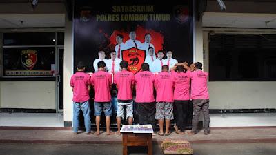Tim Puma Polres Lotim Bekuk Pelaku Judi Domino di Kecamatan Lenek