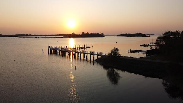 DJI Drohnenflug über das Veerse Meer (Niederlande)