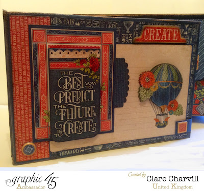 Worlds Fair Book in a Box kit Clare Charvill Graphic 45