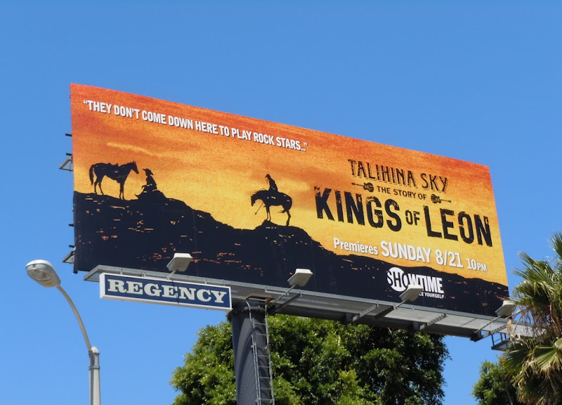Talihina Sky Kings of Leon billboard