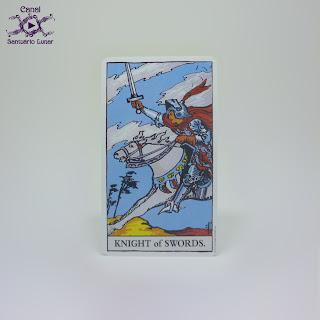 The Rider Tarot (US Games System) - Knight of Swords