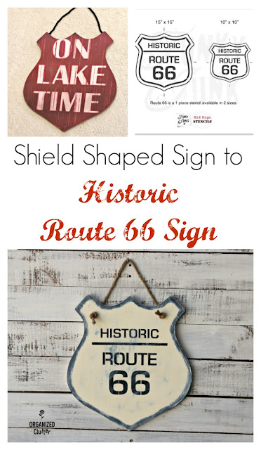Kmart Sign Makeover with Old Sign Stencils #route66 #stencil #oldsignstencils