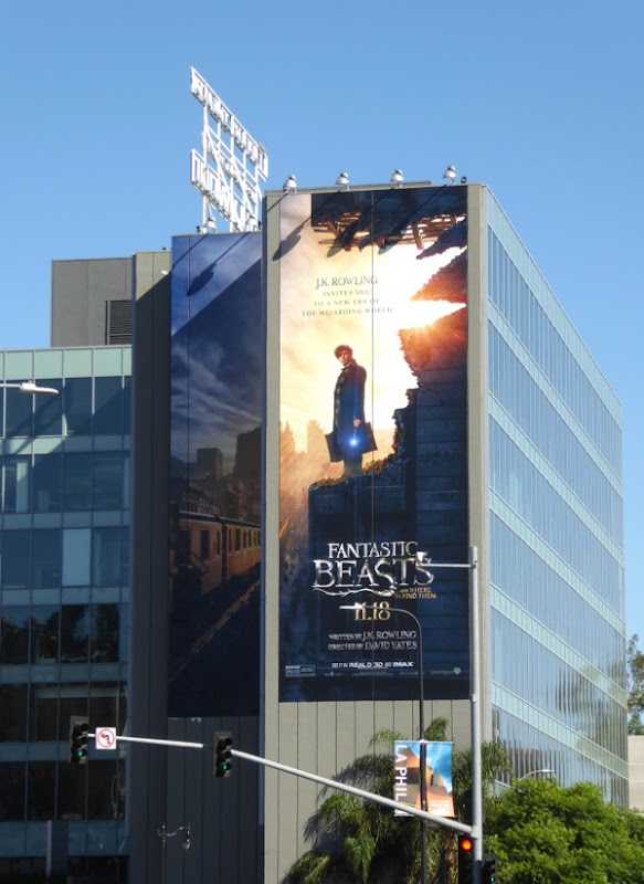 Giant Fantastic Beasts movie billboard