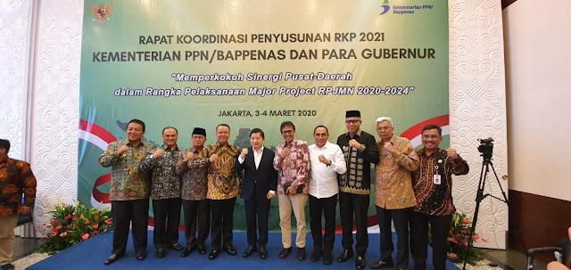 Gubernur Arinal Djunaidi Sampaikan Program Prioritas Provinsi Lampung Dalam Rapat Koordinasi Kementerian PPN