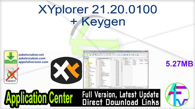 XYplorer 21.20.0100 + Keygen