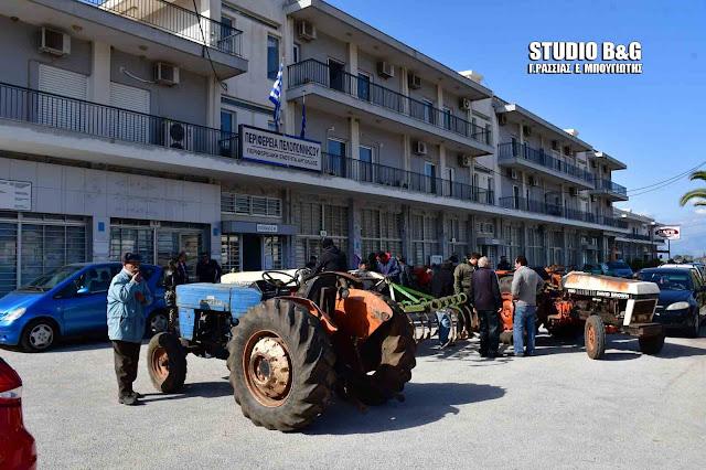 Διαμαρτυρία αγροτών της Αργολίδας (βίντεο)