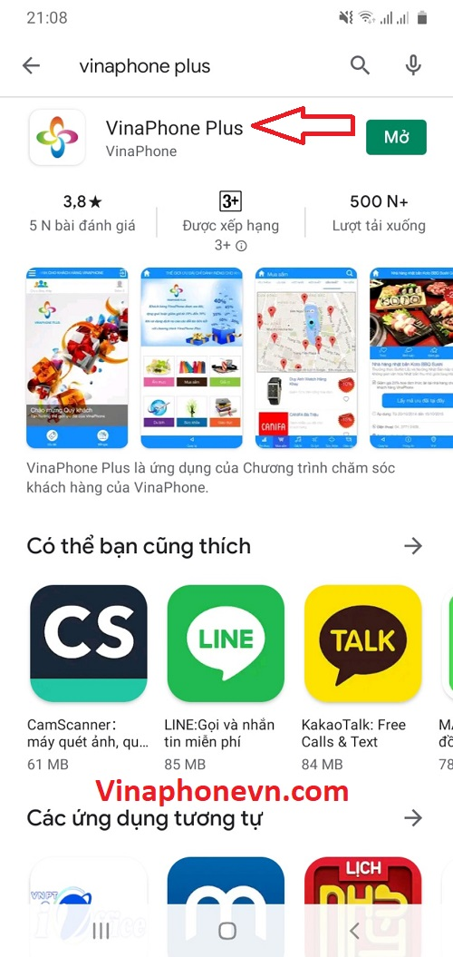 Cách Tải Vinaphone Plus để nhận Miễn phí 1GB Data.