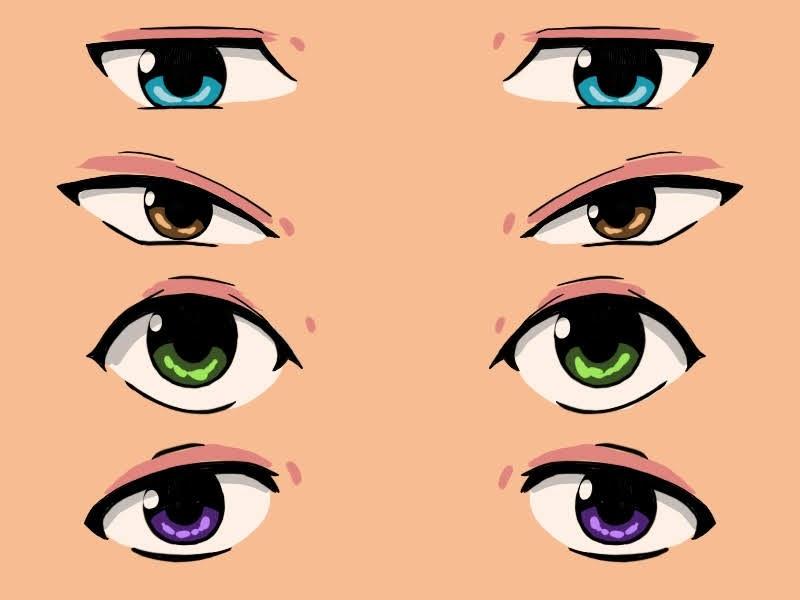 couverture différents types d'yeux