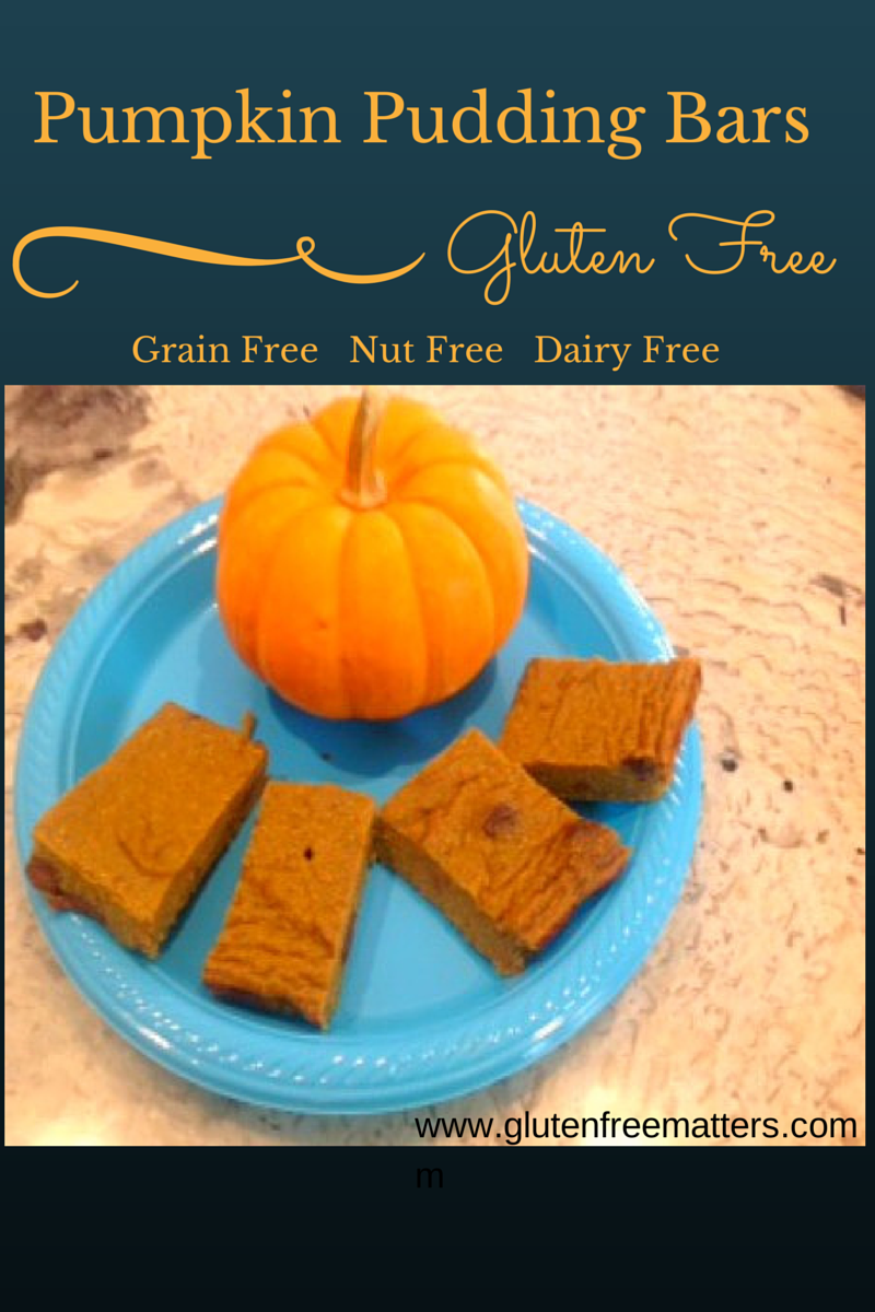 gluten free pumpkin pudding bars
