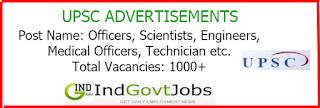 UPSC Advertisement indgovtjobs