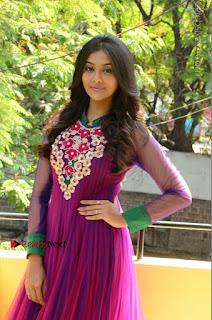 Actress Pooja Jhaveri Latest Stills in Purple Salwar Kameezt at Dwaraka Success Meet  0110.JPG
