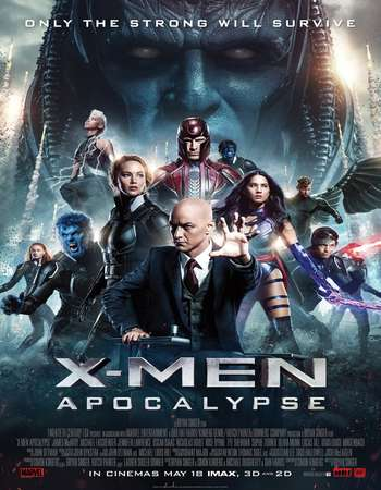 Poster Of X-Men Apocalypse 2016 ORG Dual Audio 550MB BRRip 720p ESubs HEVC Free Download Watch Online downloadhub.net
