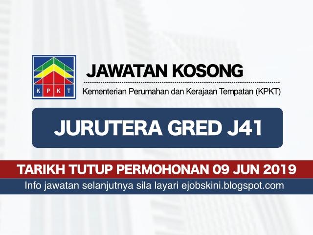 Jawatan Kosong Kementerian Perumahan Dan Kerajaan Tempatan Kpkt Tarikh Tutup 09 Jun 2019