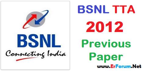 bsnl-tta-je-2012-solved-paper