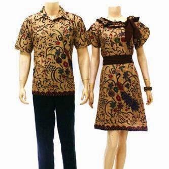 Baju Batik Model Terbaru Pasangan Pria Dan Wanita Tahun 2015