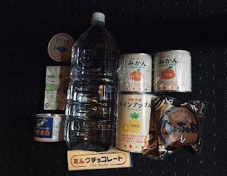 缶詰と水の備蓄