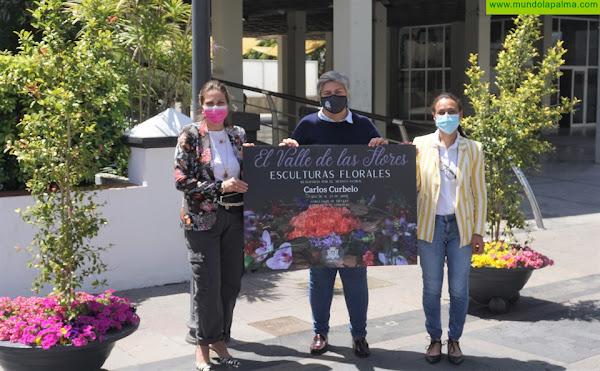 Cuatro esculturas florales darán la bienvenida a la primavera en Los Llanos de Aridane
