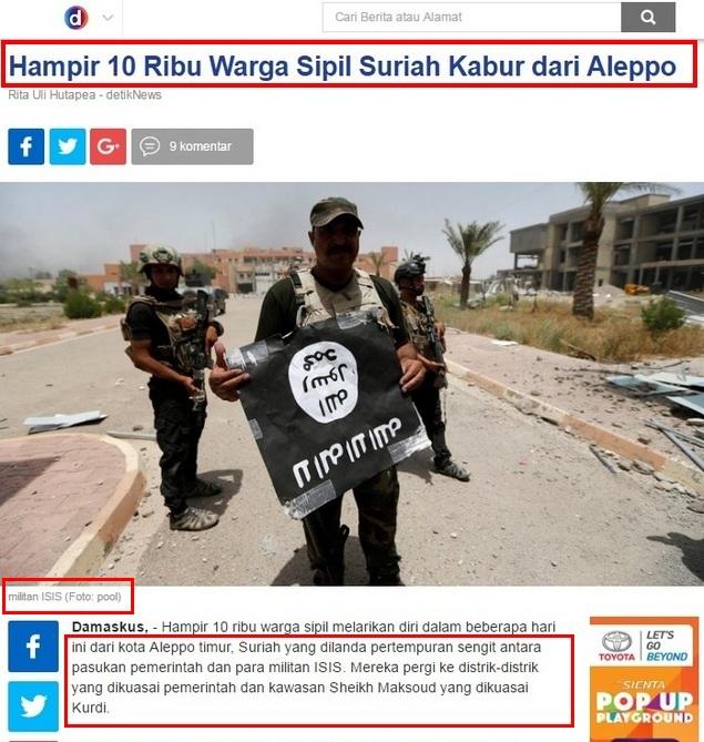 Detikcom Buat Berita HOAX Soal Aleppo