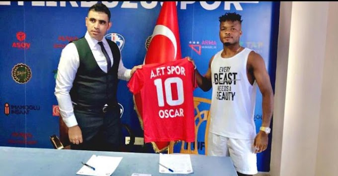 OSCAR DON SANTOS SIGNS TURKISH DEAL