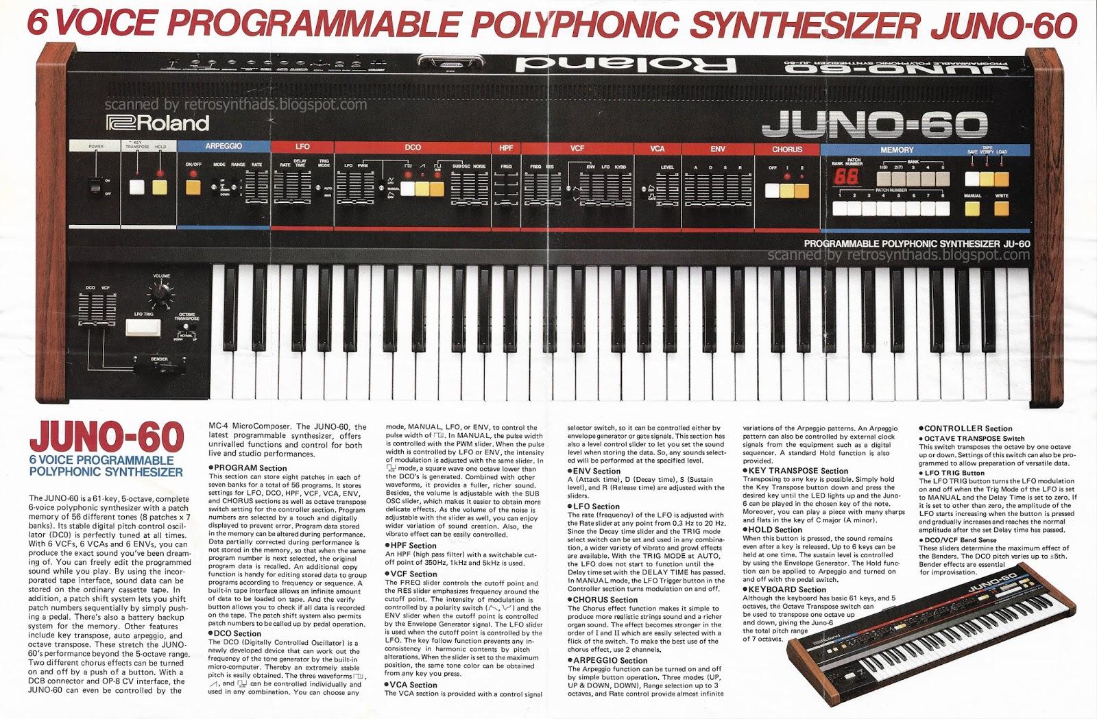 Retro Synth Ads