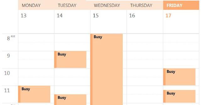 Room Calendar No Details