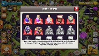 barang sihir game clash of clans