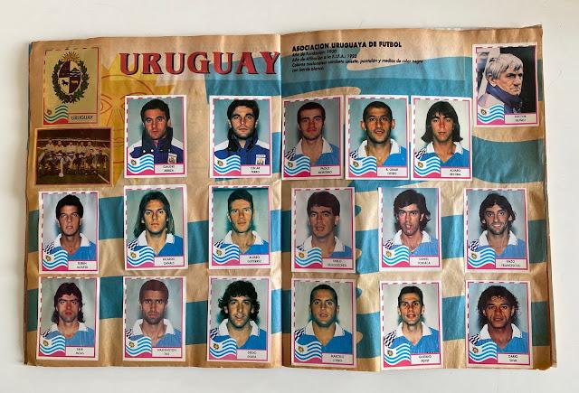 figurine Uruguay copa america '95  Navarrete