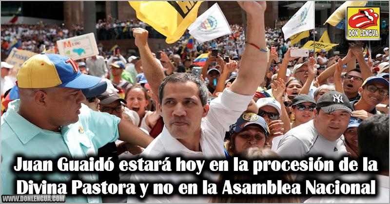 Juan Guaidó estará hoy en la procesión de la Divina Pastora y no en la Asamblea Nacional