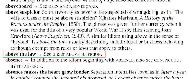 Arti Above The Law
