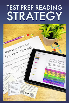 This printable and digital flipbook gives middle school students a chance to interactively practice with using the reading process to prepare for state tests in reading.