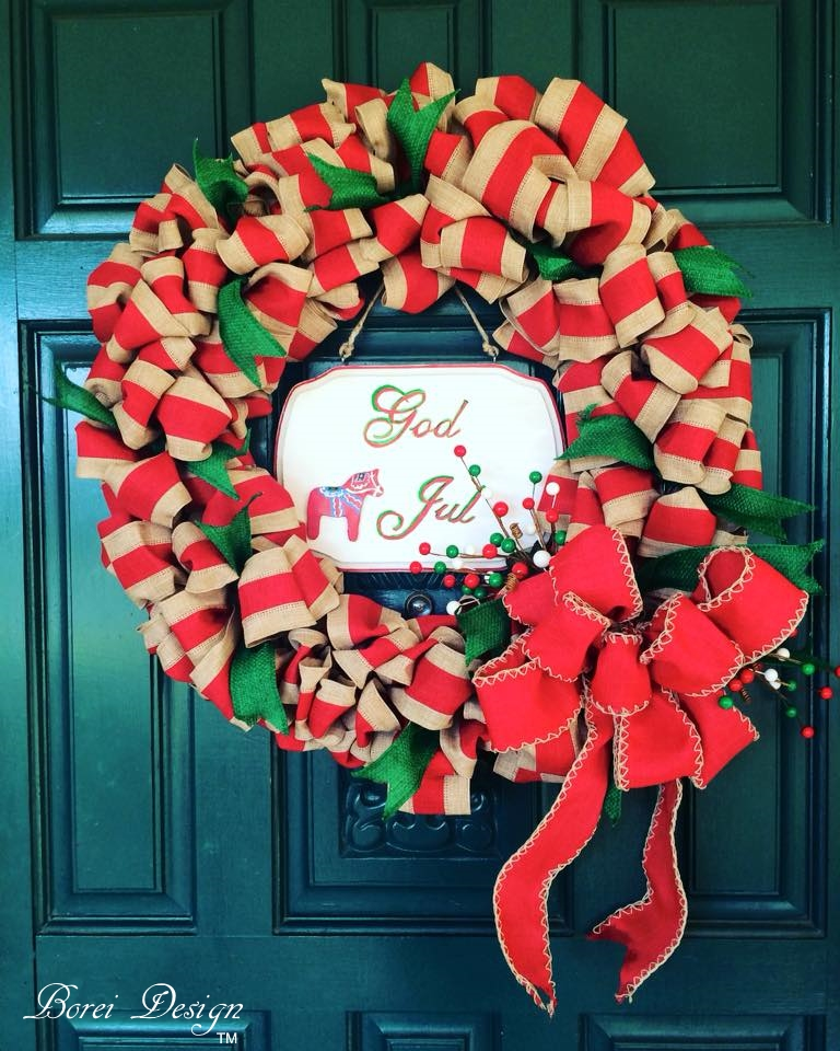 Diy craft tutorial how to make a christmas ribbon wreath for Ribbon crafts to make