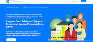 TAMPILAN WEB PROGRAM GURU BELAJAR SERI PPPK/P3K