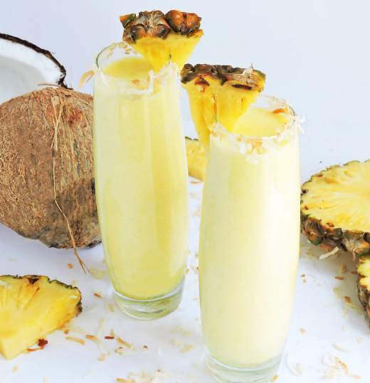 Tropical Pineapple Coconut Cooler #pineapple #drink #party #healthy #cocktail