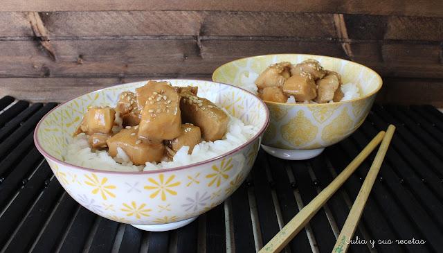 Pollo en salsa teriyaki. Julia y sus recetas