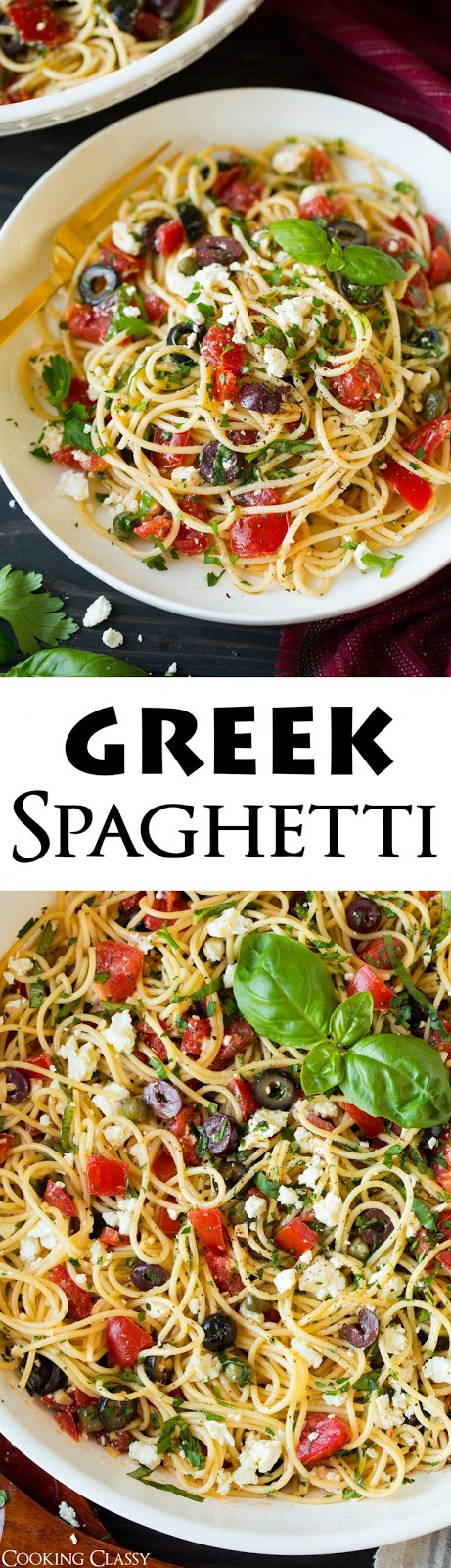 Garlicky Greek Spaghetti Toss Recipes