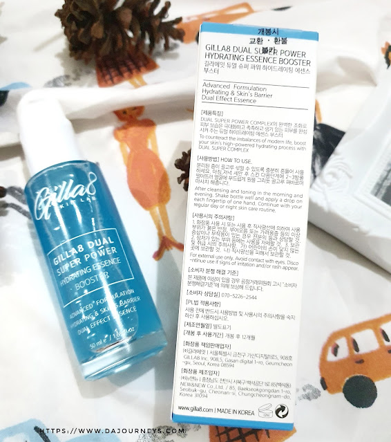 Review GILLA8 Dual Super Power Hydrating Essence Booster