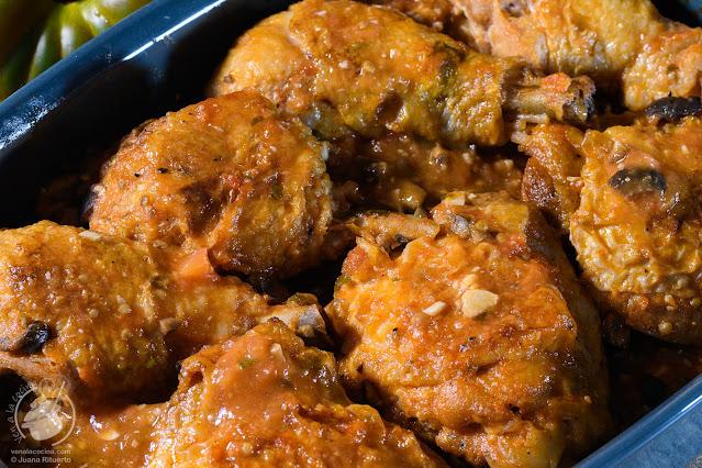 Pollo picante. La receta de Inés.