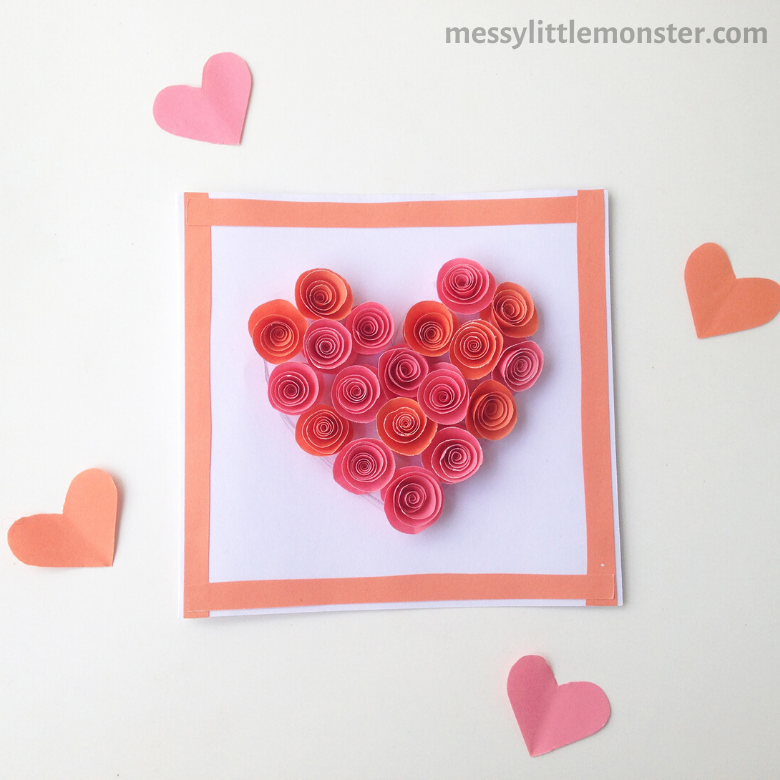 rose heart paper craft