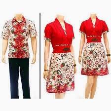 Gambar Model Baju Batik Nasional Merah Putih Modern Wanita
