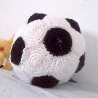 Crochet amigurumi soccer ball